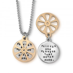 Friends Are Flowers That Never Fade, Inspirational Quote Necklace ...