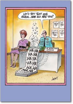 Lie Detector Age Unique Funny Birthday Card Nobleworks