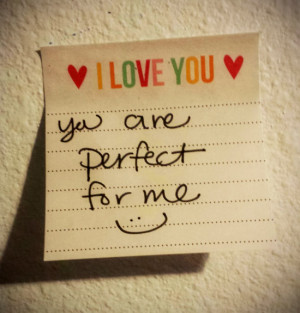 You Are Perfect For Me