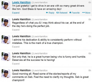 Scroll down to read the full transcript of Hamilton's post-race quotes