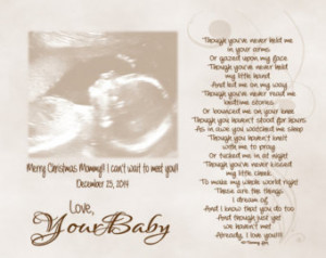 Mommy Daddy to be Christmas gift from unborn child Personalized Poetry ...