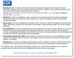 ... vaccine ingredients and heavy metals still used in vaccines given to