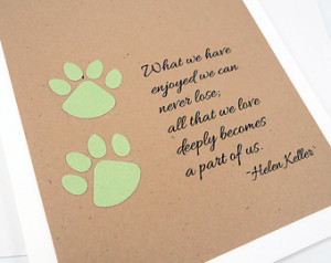 Dog Quotes Loss Pet sympathy card, loss of pet