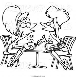 lady friends talking over coffee friend clip art ron leishman