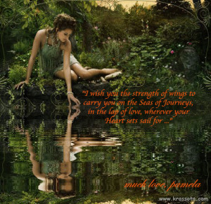 Lady Water Green Quote