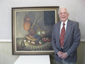 Ralph Herring a founding member of Mooresville Artists Guild painted