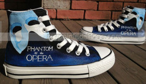 The Phantom Of The Opera Inspired Shoes High-top Painted Canvas ,High ...