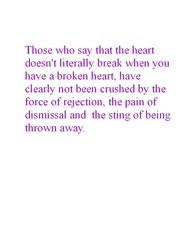 Being Thrown Away...