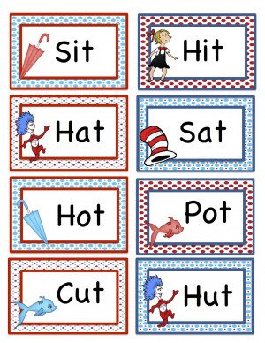 56 cards for matching rhyming words