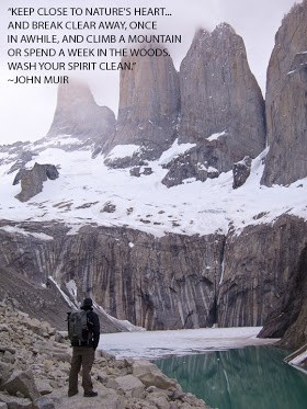 John Muir quote on a photo by Colby Brown.