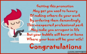 Congratulations On Your Promotion Quotes Funny job promotion greeting