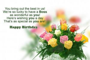 happy birthday boss greetings