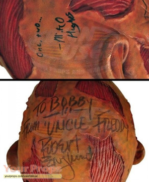 New-Nightmare-Wes-Craven-s-Freddy-Krueger-Stunt-Mask-1-signed-by-Wes ...
