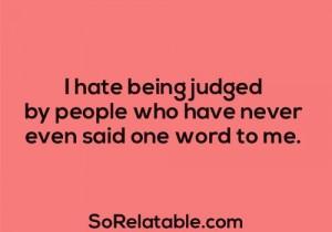 Being judged