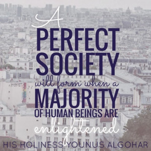 perfect society will form when a majority of human beings are ...