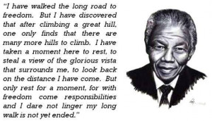 Nelson Mandela: I love this quote....Freedom
