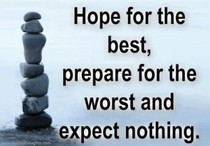 Nice life love quotes thoughts hope worst expect great best