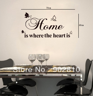 ... is Wall Quote Saying Art Mural DIY Wall Decals Stencils for Decoration