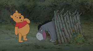 """Winnie the Pooh asked, """"Lovely day, isn't it?"""" And Eeyore ..."""