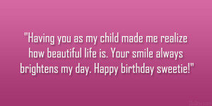 Happy Birthday To My Daughter Quotes
