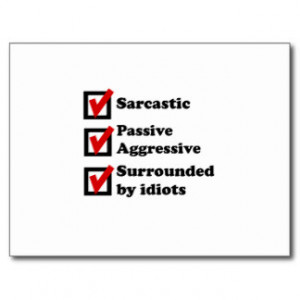 Sarcastic Sayings Postcards