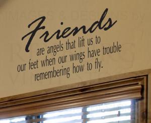 ... -Decal-Sticker-Quote-Vinyl-Friends-are-Angels-Friends-Friendship-FR3