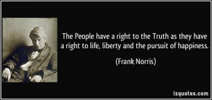 The People have a right to the Truth as they have a right to life ...