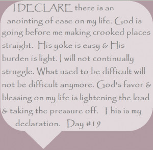 Joel Osteen I Declare Quotes I declare there is an