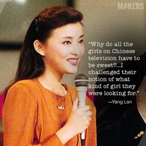 beating out a thousand girls for a job on Chinese television, Yang Lan ...