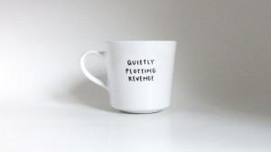 Quietly Plotting Revenge Hand Illustrated Quote Art White Teacup 6 oz ...