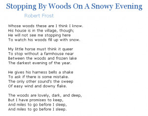 robert frost poems