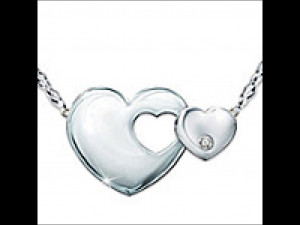 Mother-Daughter Sterling Silver Diamond Necklace: Always My Daughter
