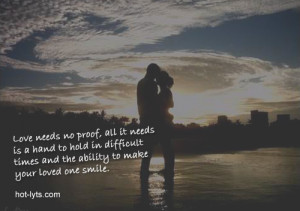 Love Needs No Proof, All It Needs Is A Hand To Hold In Difficult Times