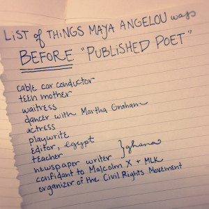 list of things Maya Angelou was before
