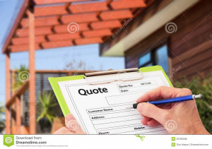 ... Free Stock Photos: Hand Writing a quote for Home Building Renovation