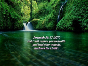 Jeremiah 30:17 Waterfalls HD Wallpaper