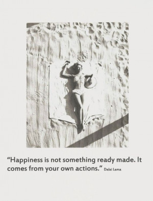 Happiness Dalai Lama Quote by elefantpeople on Etsy, $20.00