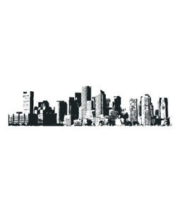 Details about City Skyline New York Vinyl Wall sticker decal Quotes