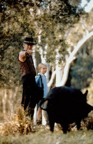 Still of Paul Hogan and Serge Cockburn in Crocodile Dundee in Los ...