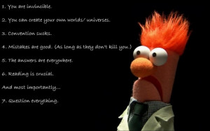 Muppet rules of life