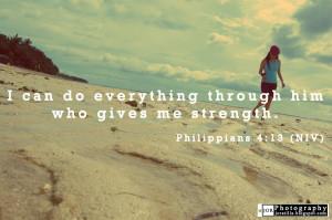 Bible Quotes Philippians 4:13 (NIV)