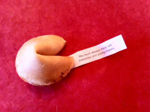 once had a fortune cookie with no message. The paper inside was ...