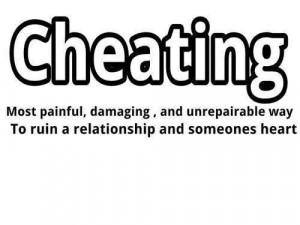 ... way to ruin a relationship and someone's heart. #infidelity