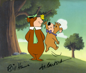 ... stars from the yogi bear show yogi and boo boo signed by bill hanna