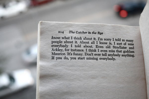 There are many examples in the Catcher in the Rye , that show Holden's ...