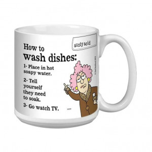 How to wash dishes....