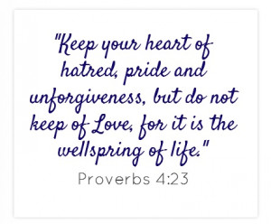 keep your heart of unforgiveness