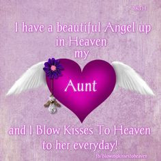 Missing my aunt More