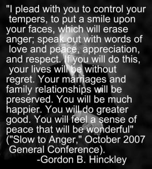 Control your temper...