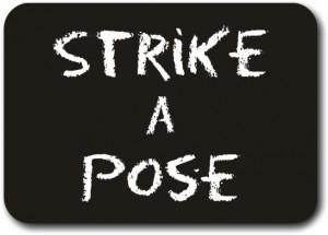 Printed Chalkboard - Strike a Pose (28cm)